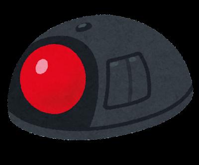 トラックボールのイラスト(人差し指型)