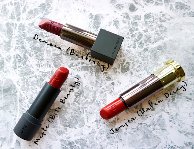 Temper-Urban-Decay-Maple-bite-beauty-damson-burberry-lipstick