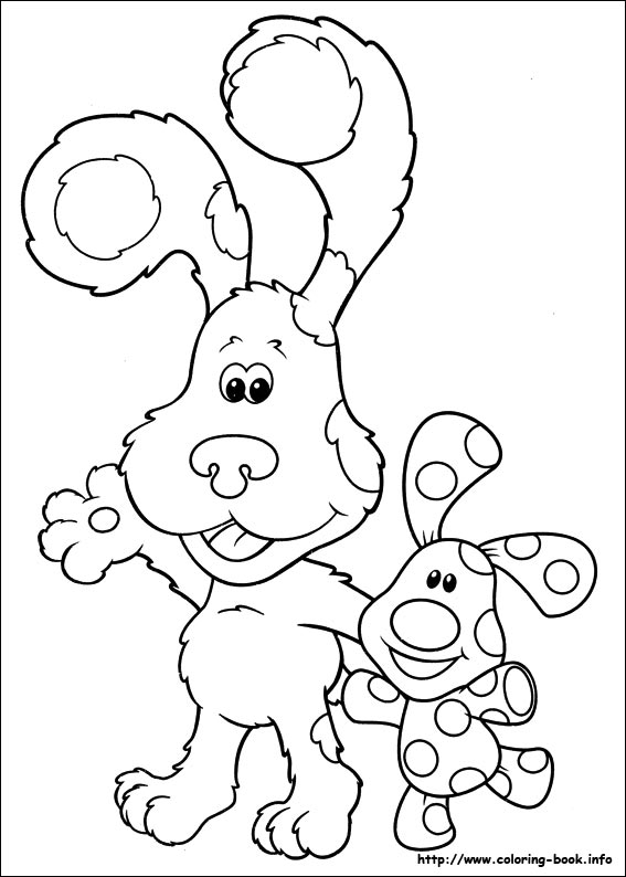fun coloring pages blue's clues coloring pages