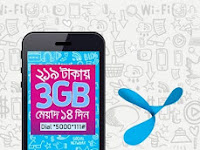 Grameenphone 3GB at tk 219 and 500MB at tk 59 offer