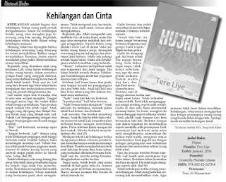Kehilangan dan Cinta merupakan resensi atas novel Hujan karya Tere Liye terbitan Gramedia Pustaka Utama di muat oleh Kabar Madura.