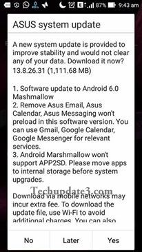 Asus Zenfone Max Zc550kl gets Android marshmallow OTA update