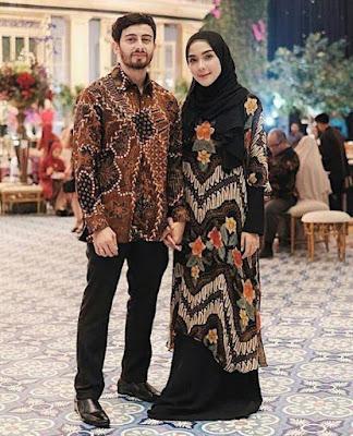 gambar baju pesta batik muslimah