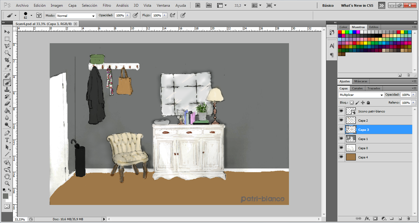 Diseñando un hall en photoshop