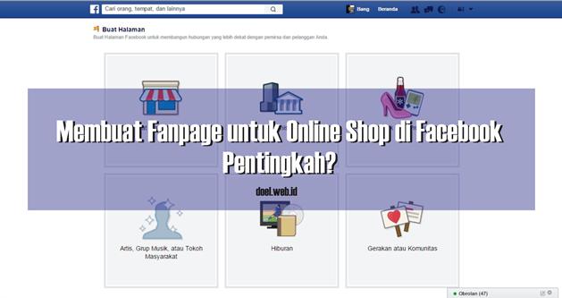 Membuat Fanpage untuk Online Shop di Facebook