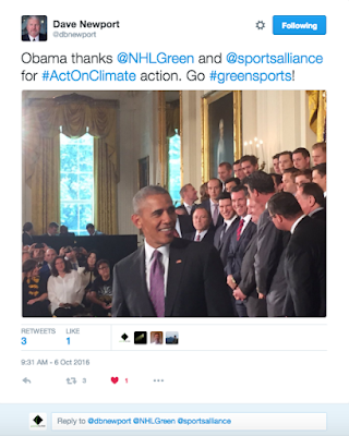 Obama congratulates GSA on green sports day