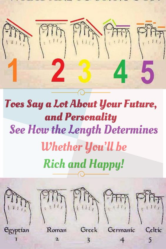 TOES SAY A LOT ABOUT YOUR FUTURE, AND PERSONALITY: SEE HOW THE LENGTH DETERMINES WHETHER YOU'LL BE RICH AND HAPPY!
