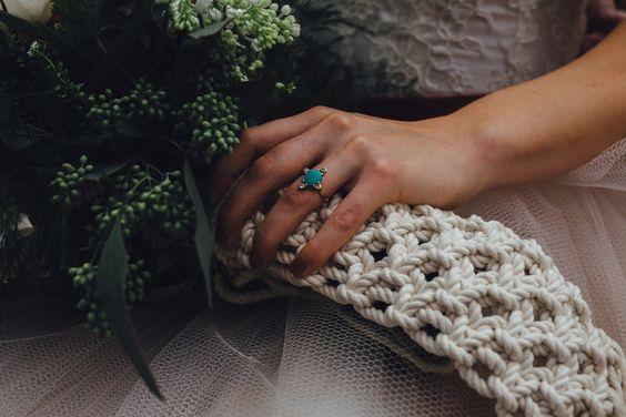 ramo de novia con macrame - decora tu boda con macrame