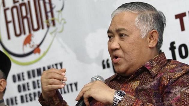 Din Syamsuddin Akhirnya Berani Ingatkan Amien Rais Soal Jokowi