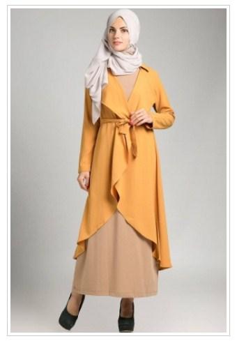 20 Model Baju Muslim Cardigan Untuk Remaja Terbaru 2016
