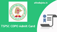 TSPSC CDPO Admit Card