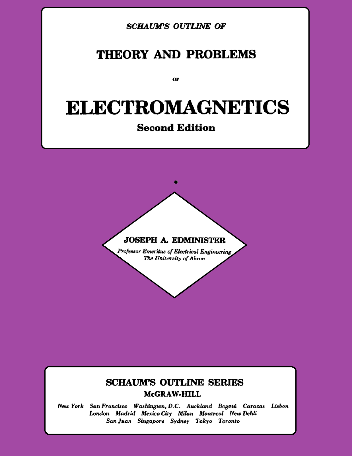 Pdf Book Electromagnetism Schaum S Series House Of Physics