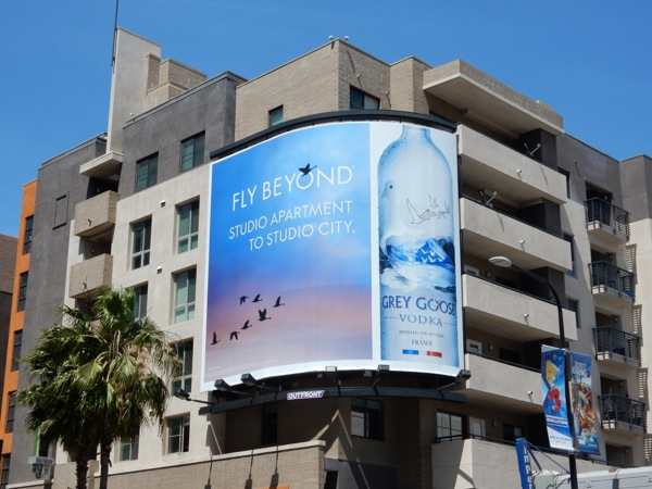 Grey Goose Fly Beyond Studio apartment to Studio City billboard