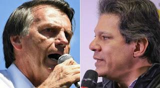 Pesquisa CNT/MDA: Bolsonaro e Haddad estão tecnicamente empatados