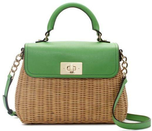 wiklinowa torebka zielona
