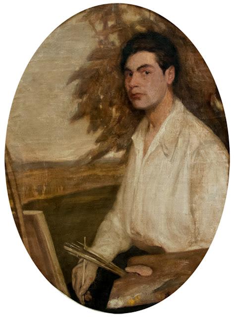 Alberto Lobos Aranguiz, Self Portrait, Portraits of Painters, Fine arts, Alberto Lobos