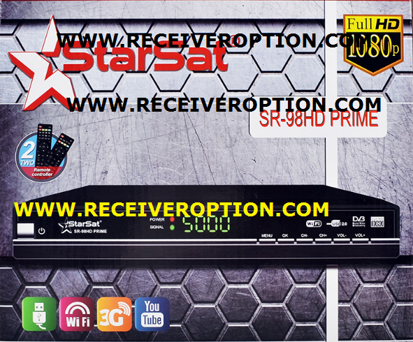 STARSAT SR-98HD PRIME RECEIVER POWERVU KEY SOFTWARE NEW UPDATE