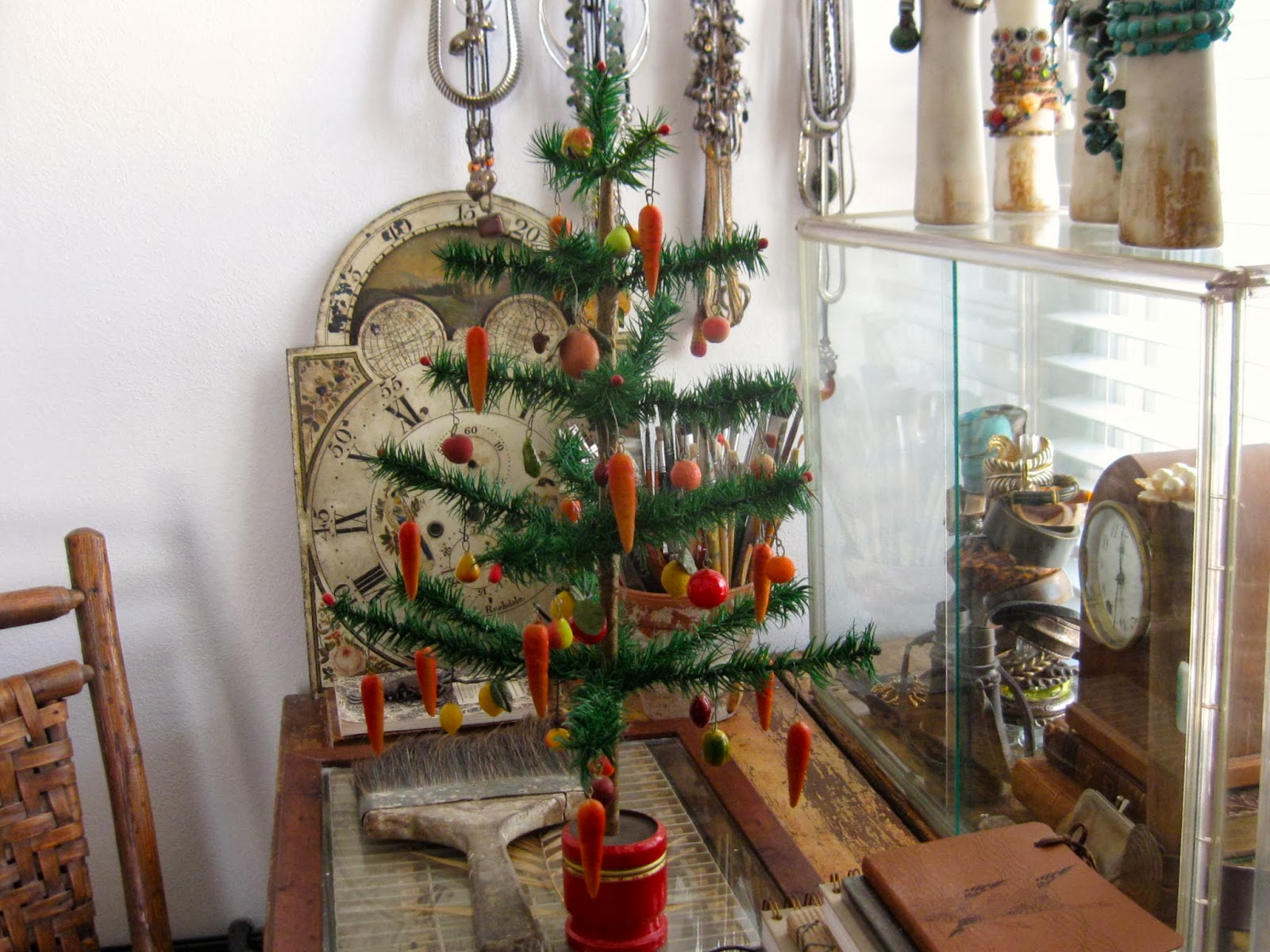 anything goes here: merry christmas~ antique feather tree ...