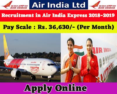 Recruitment in Air India Express 2018-2019