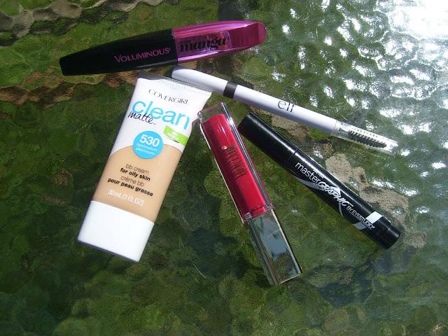 L'oreal Miss Manga Covergirl Clean Matte Elf eyebrow Milani lipstick Maybelline Master graphic eyeliner