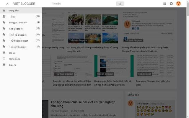 Hướng dẫn thêm widget Label vào menu sử dụng button click