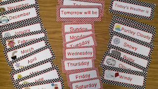 polka dot calendarcards