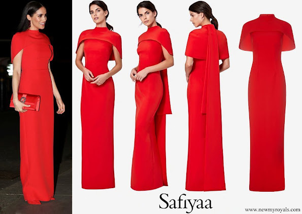 Meghan Markle wore Safiyaa Kalika Long Dress