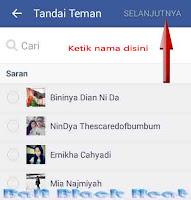 Cara menandai teman di status facebook