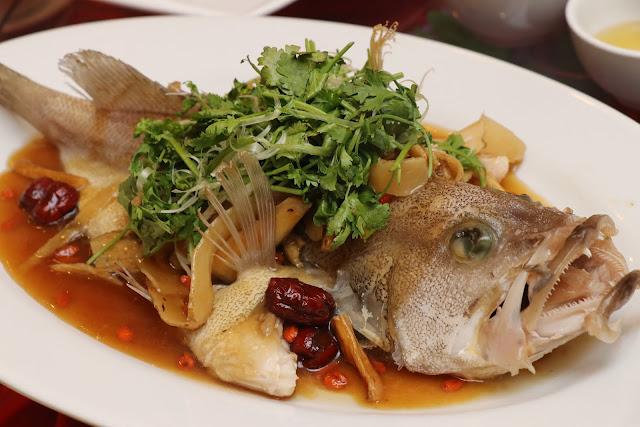 CNY 2019 Set Menu -Steam Garoupa Fish With Chinese Herbs