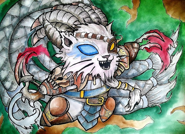 rengar chibi cartoon