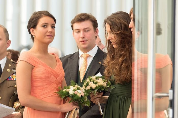 Grand Duke Henri, Grand Duchess Maria Teresa, Hereditary Grand Duke Guillaume, Hereditary Grand Duchess Stéphanie, Prince Félix, Princess Claire, Prince Louis,  Princess Tessy, Princess Alexandra,  Prince Sebastien. Luxembourg's National Day