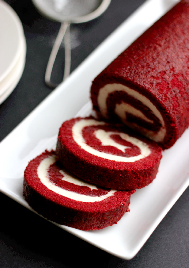 Red Velvet Cake Roll With Cake Mix