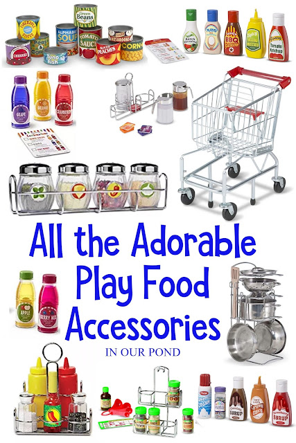 Best Play Food for the Toy Kitchen // In Our Pond // Gift Guide for Kids // Fuel the imagination // Pretend Play // All the adorable accessories make the kitchen realistic and fun