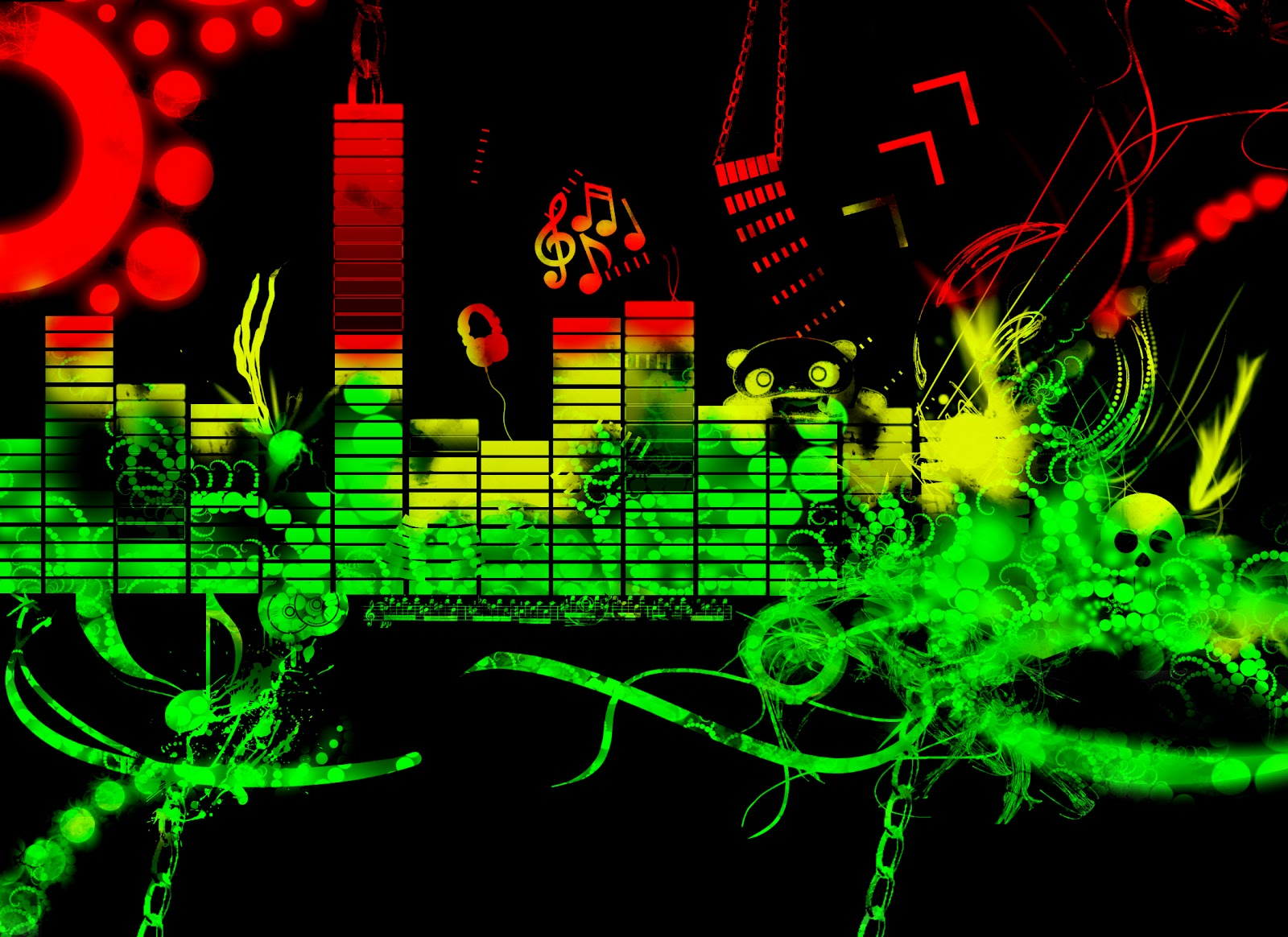 Download Free 3d Music Equalizer Wallpapers Hd: Electro Bass Antro Mix: Junio 2012