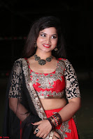 Sirisha Dasari in Red Ghagra Backless Choli ~  004.JPG