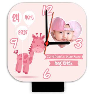 Kız Bebeklere Özel Masa Saati