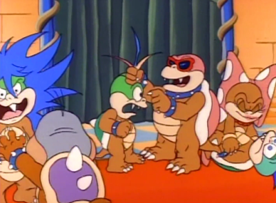 Koopalings family fighting Adventures of Super Mario Bros. 3 Crimes R Us