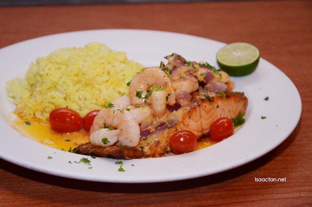 Salmon & Sriracha Lime Shrimp (RM57.13)