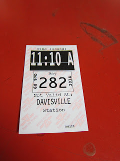 Subway transfer for the TTC's Davisville station in Toronto