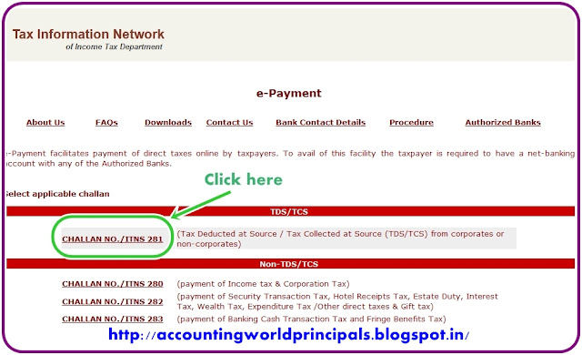 TDS or TCS Payment through Online