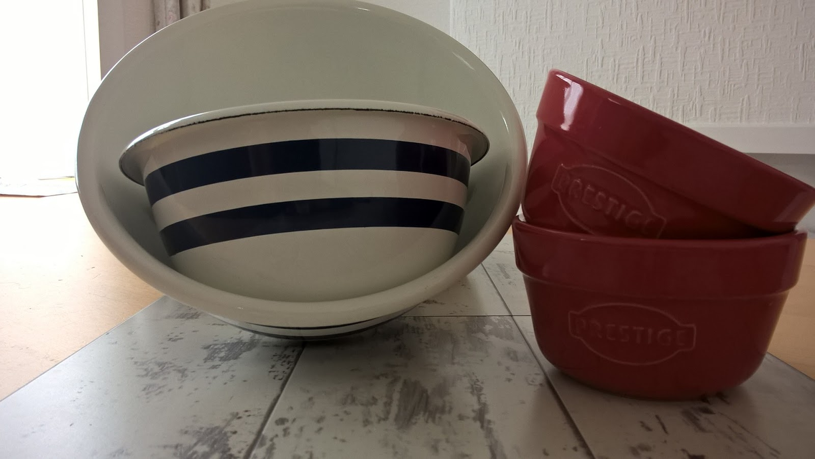 Prestige Vintage Kitchen Enamel Mixing Bowls & Ramekins - Greatest British Family Selfie Competition - motherdistracted.co.uk