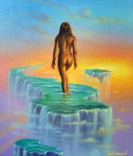 Andando em Sonhos - Jim Warren pinta sonhos e ilusões de maneira fantástica.