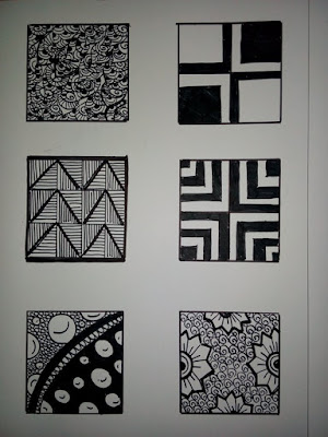 Cara Berlatih Membuat Zentangle Seni Menggambar Simetri 1