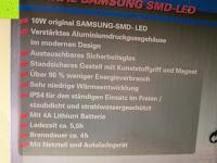 Information: as - Schwabe Chip-LED-Akku-Strahler 10 W, geeignet für Außenbereich, Gewerbe, blau, 46971