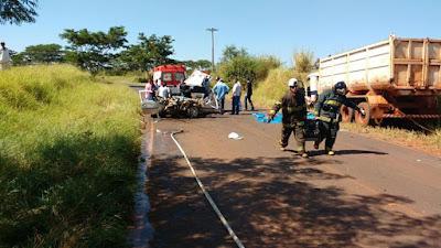 Colisão entre carro e caminhão deixa duas vítimas em Altair