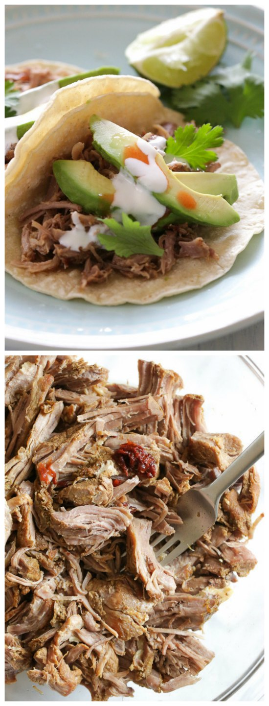 Slow Cooker Mexican Pork Carnitas from Skinnytaste found on SlowCookerFromScratch.com