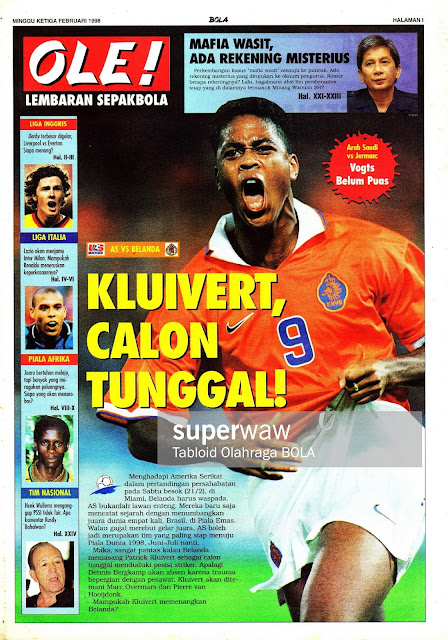 PATRIK KLUIVERT HOLLAND NETHERLAND VS USA 1998