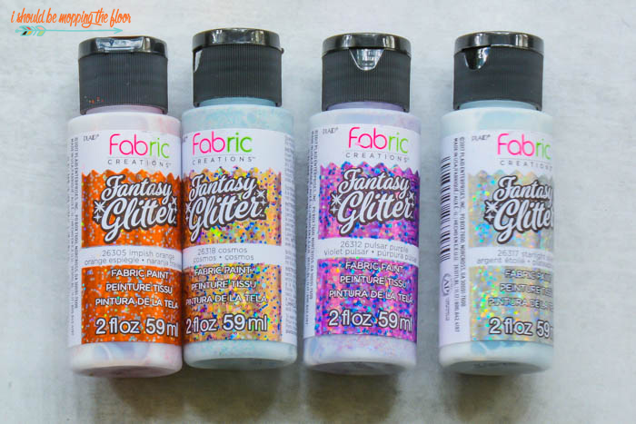 Glittery Fabric Paint