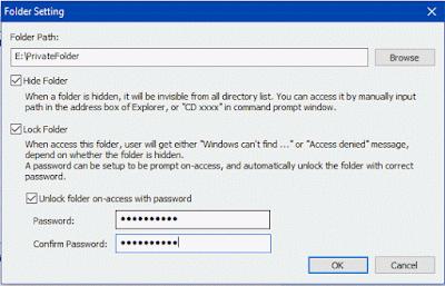 Pilihan kunci folder private folder