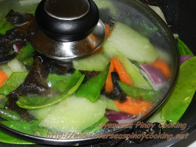Vegetable Chopsuey - Steaming Procedure